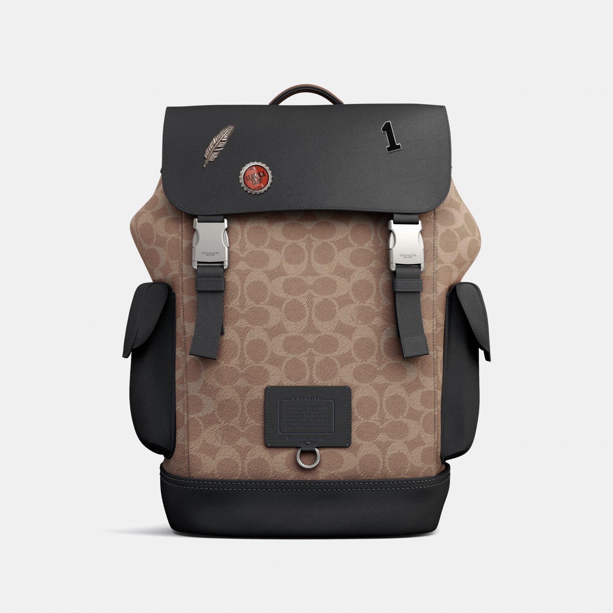 Customize RIVINGTON BACKPACK IN SIGNATURE CANVAS